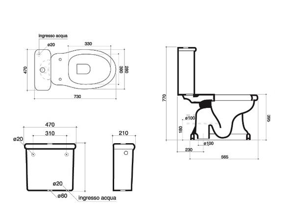 wc wc becken nostalgie design traditionelle. Black Bedroom Furniture Sets. Home Design Ideas