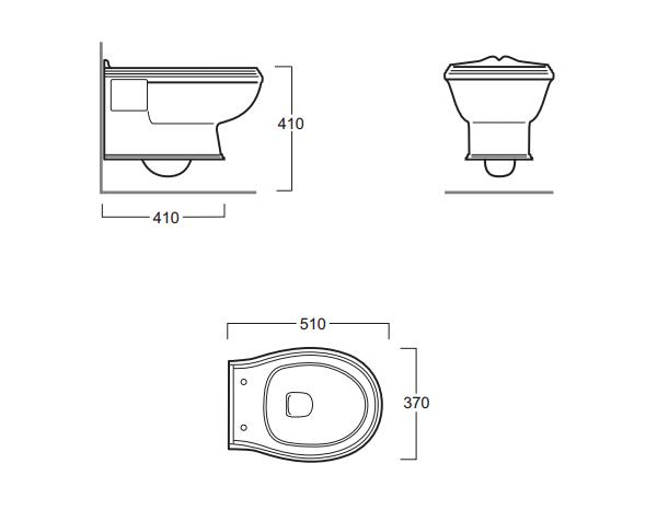 nostalgie keramik wc becken astoria wandh ngend classic. Black Bedroom Furniture Sets. Home Design Ideas