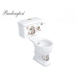 nostalgie wc becken mit blumenmuster wc mit floraler. Black Bedroom Furniture Sets. Home Design Ideas