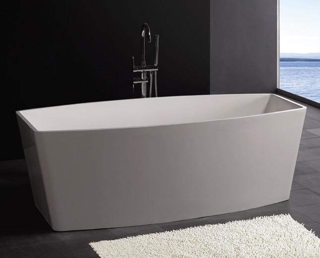 Freistehende badewanne mineralguss badewanne for Moderne badewannen design