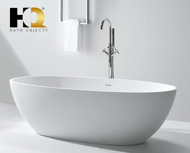 Freistehende Design Badewanne aus Mineralguss Vancouver Classic ... | {Freistehende badewanne mineralguss 86}