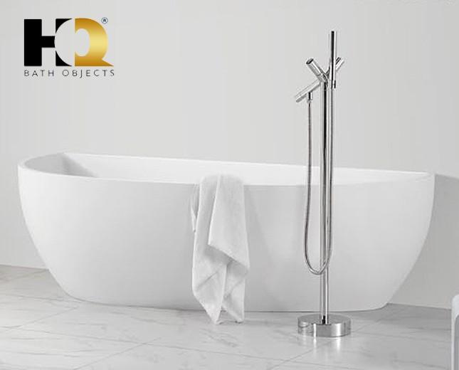 freistehende design badewanne aus mineralguss calgary classic stone. Black Bedroom Furniture Sets. Home Design Ideas