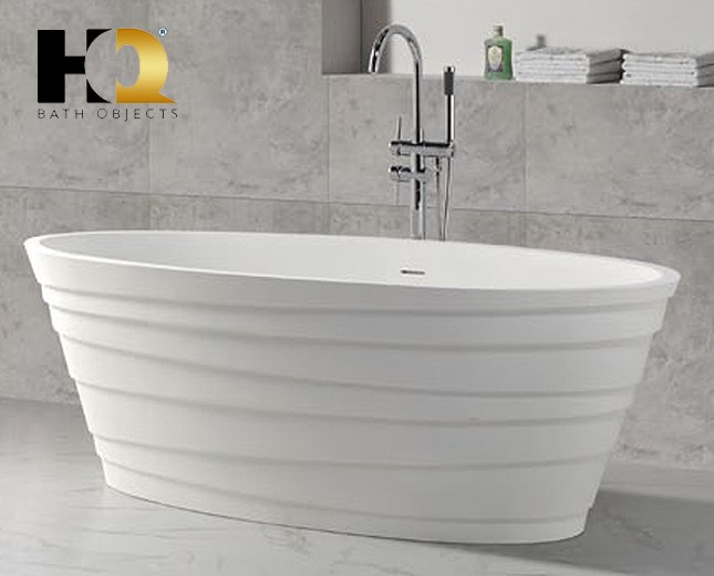 freistehende design badewanne aus mineralguss moncton classic stone. Black Bedroom Furniture Sets. Home Design Ideas