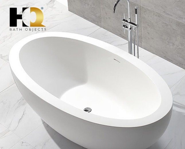 freistehende design badewanne aus mineralguss lethbridge classic stone. Black Bedroom Furniture Sets. Home Design Ideas