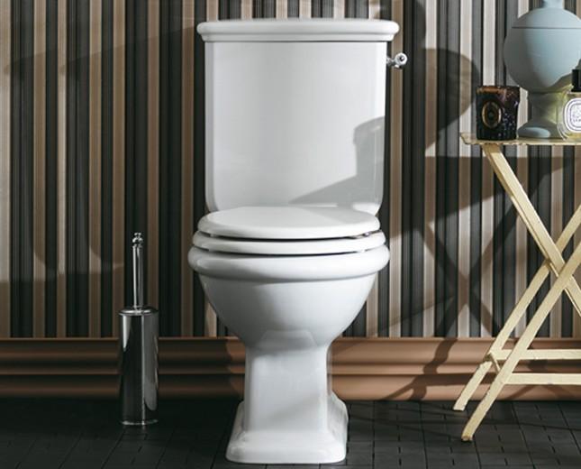 nostalgie keramik wc becken latium mit aufgesetztem. Black Bedroom Furniture Sets. Home Design Ideas