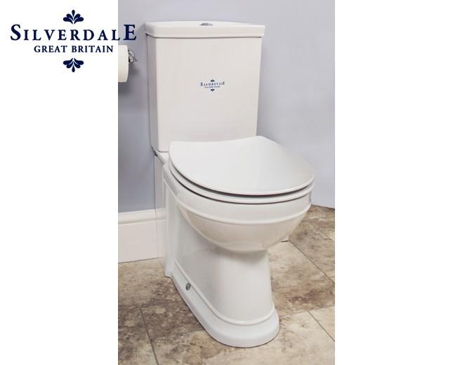 Cool Nostalgie WC-Becken mit aufgesetztem Spülkasten, traditionelles WC  AF04