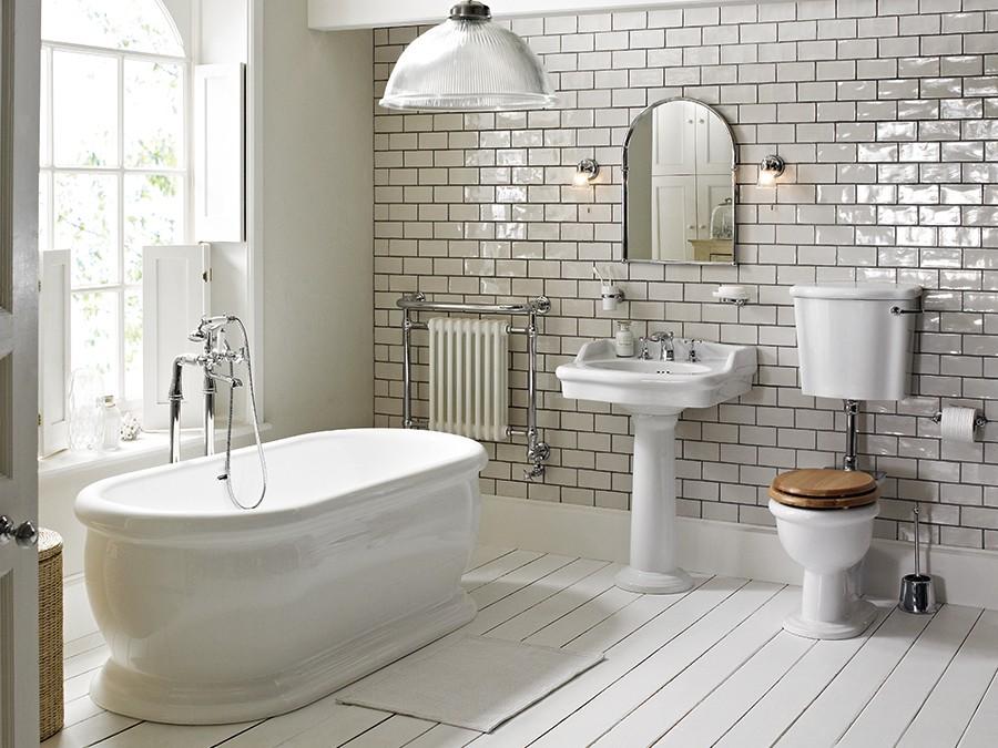 Wc wc becken nostalgie design traditionelle for Badezimmer ideen nostalgie