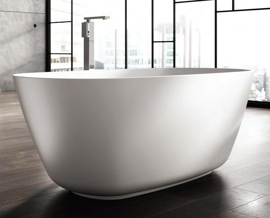freistehende designer badewanne aus mineralguss organic t chni classic stone. Black Bedroom Furniture Sets. Home Design Ideas