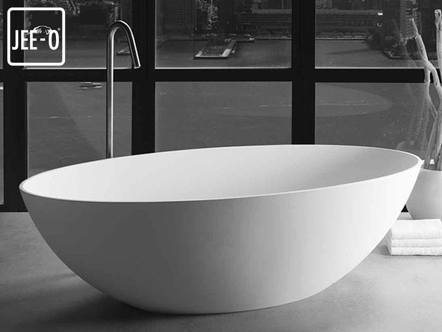 freistehende design badewanne santino santino quartz freistehende badewanne mineralguss. Black Bedroom Furniture Sets. Home Design Ideas