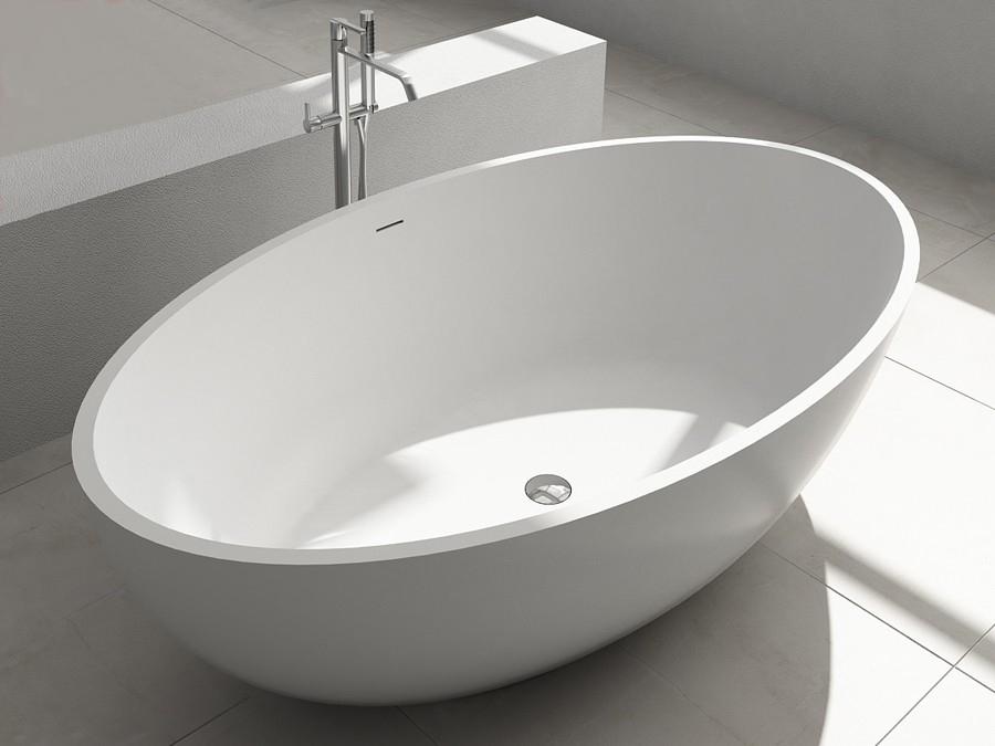 freistehende design badewanne aus mineralguss bloomberg freistehende badewanne mineralguss. Black Bedroom Furniture Sets. Home Design Ideas