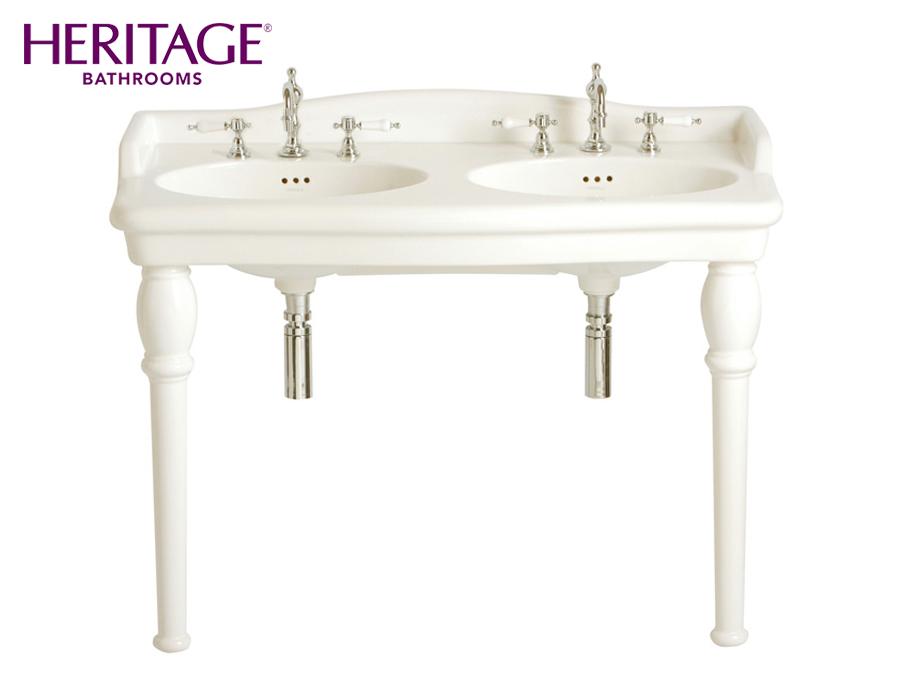 nostalgie keramik doppel waschtisch new victoria mit. Black Bedroom Furniture Sets. Home Design Ideas