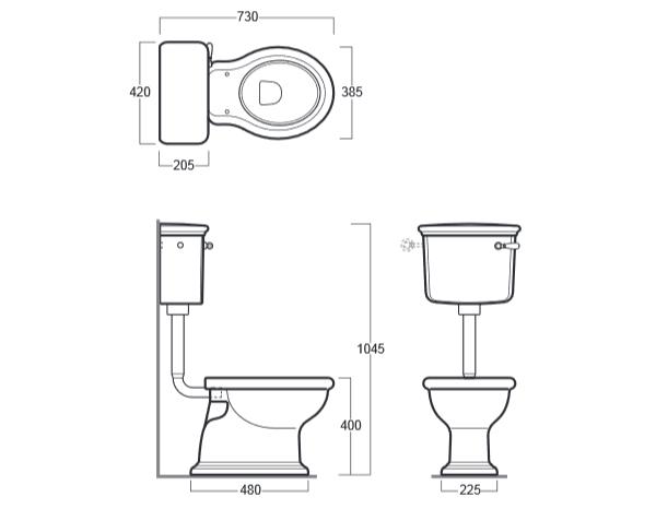 nostalgie keramik wc becken latium mit h ngendem. Black Bedroom Furniture Sets. Home Design Ideas