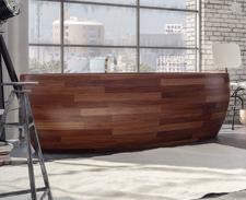 Design Holz Badewannen