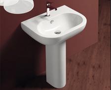 Design Waschtisch mit Standsäule
