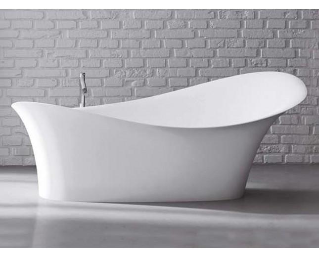 Freistehende Design Badewanne aus Mineralguss Alice