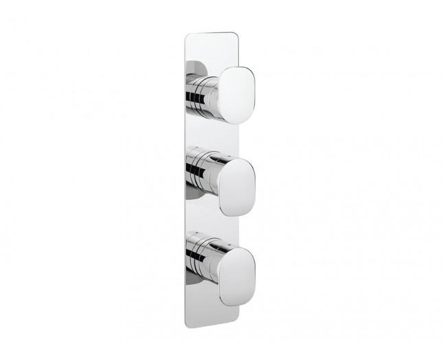 Design Dreigriff Unterputz Duscharmatur Zero-2 Vertikal / 2 Wege