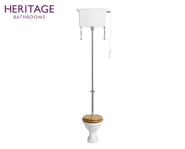 Nostalgie Keramik WC-Becken Dorchester mit hoch hängendem Spülkasten