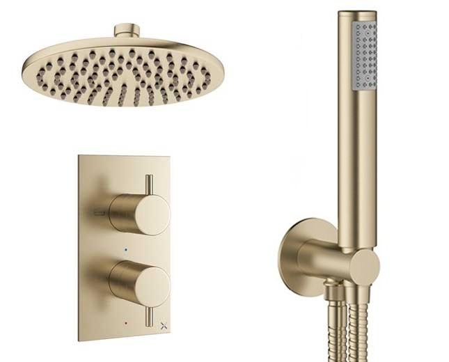 Design Unterputz Duscharmatur MPRO Brass / 2 Wege