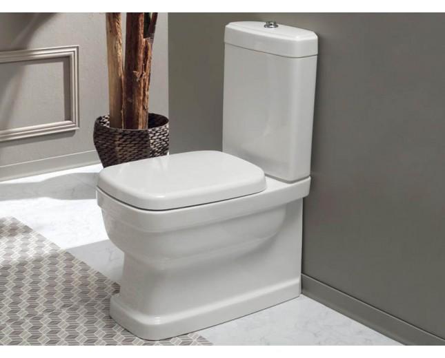 Nostalgie Keramik WC-Becken Evolution mit aufgesetztem Spülkasten