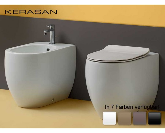 Keramik WC-Becken Flo wandbündig Medium