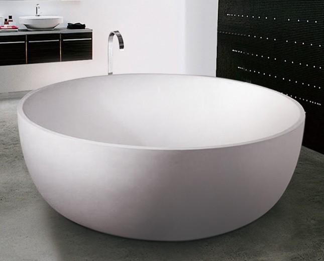 Freistehende Ei Form Design Badewanne aus Mineralguss Cocoon