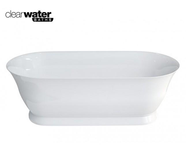 Freistehende Badewanne aus Clearstone Florenza
