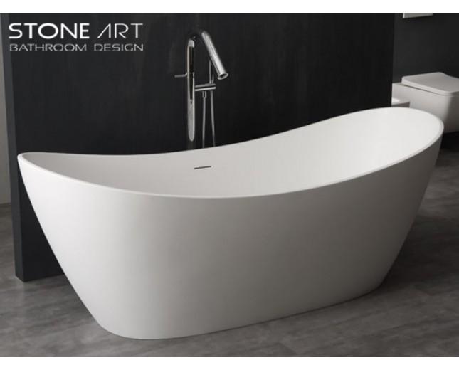 Freistehende Design Badewanne aus Mineralguss Bray
