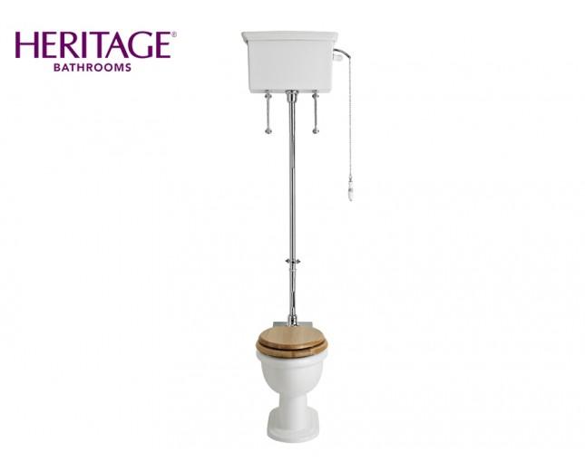 Nostalgie Keramik WC-Becken New Victoria mit hoch hängendem Spülkasten