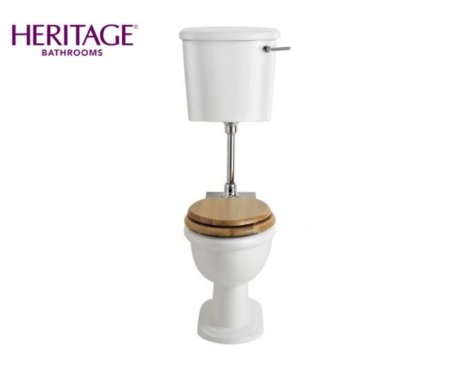 Nostalgie Keramik WC-Becken New Victoria mit hängendem Spülkasten