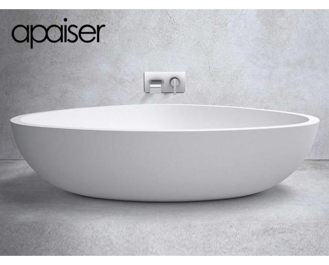 Apaiser Freistehende Design Badewanne aus Marmor Eclipse