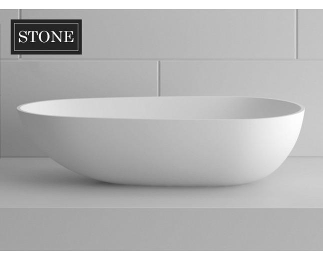 Design Mineralguss Aufsatz-Waschbecken Ovale