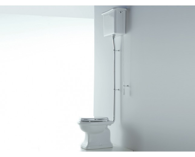 Keramik WC-Becken Paolina mit hoch hängendem Spülkasten