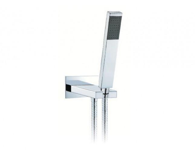 Design Handbrause Rechteck bestehend aus Handbrause, Schlauch und Wandhalterung (wasserführend)