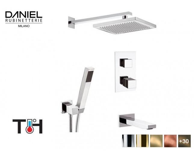 Design Thermostat 3-Wege Unterputz Duscharmatur Daniel D