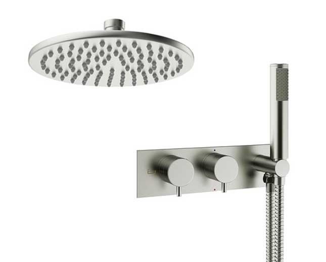 Design Unterputz Duscharmatur MPRO Steel / 2 Weg
