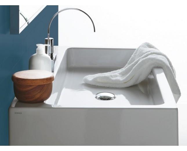 Keramik Waschtisch Frost 120 mit Chromgestell