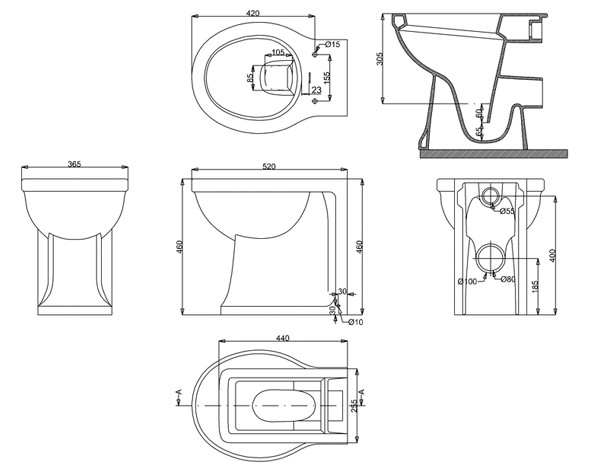 keramik wandb ndiges wc becken arcade classic stone. Black Bedroom Furniture Sets. Home Design Ideas