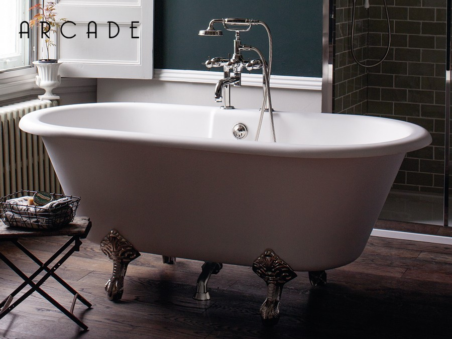 freistehende nostalgie badewanne aus mineralguss vigo. Black Bedroom Furniture Sets. Home Design Ideas
