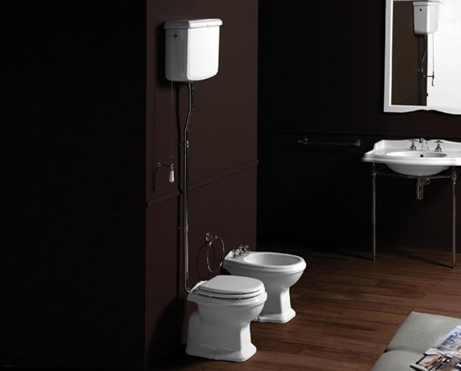 Nostalgie Keramik WC Becken Astoria Mit Hoch Hängendem Spülkasten
