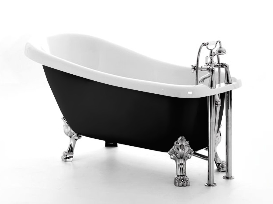 freistehende nostalgie badewanne schwarz acryl badewanne. Black Bedroom Furniture Sets. Home Design Ideas