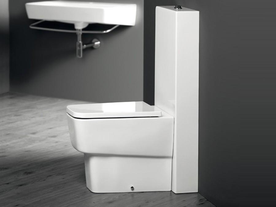 Beliebt wc-becken, delta, simas, design, modern, aufgesetzter spülkasten IJ53