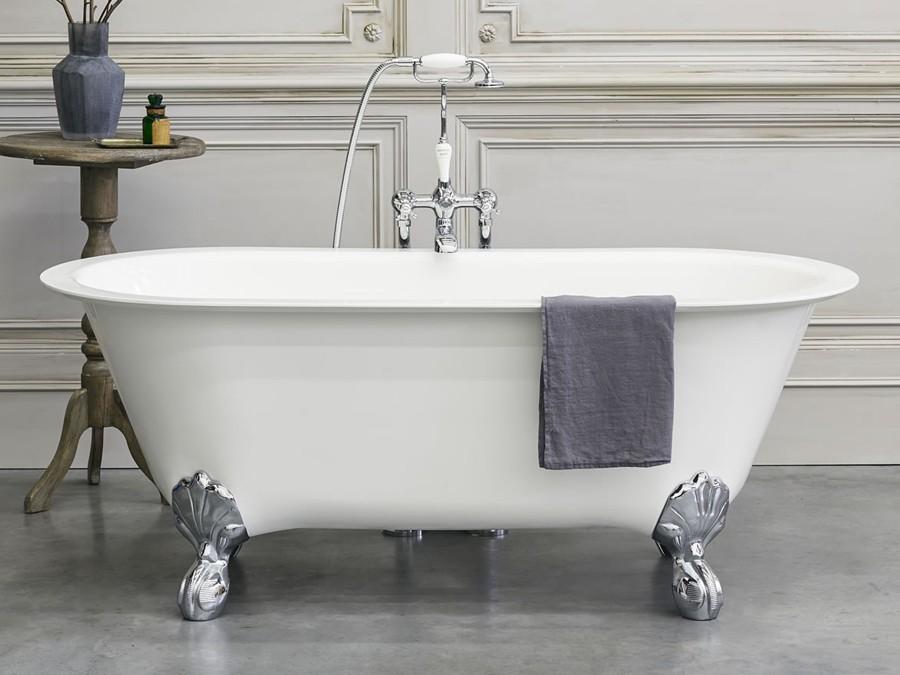 Freistehende Badewanne aus Clearstone Classico Grande