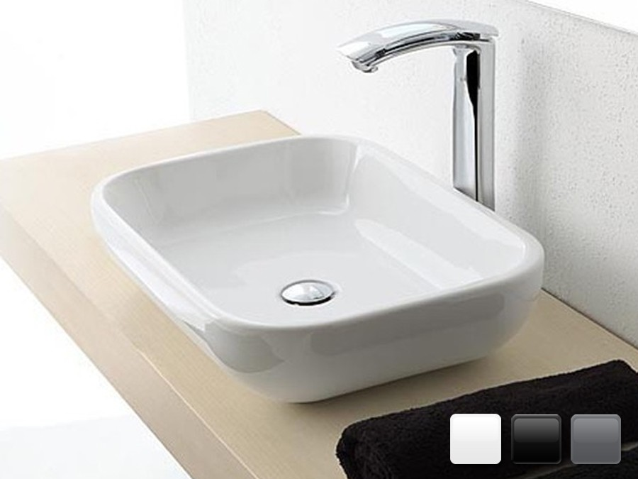Keramik Design Aufsatzwaschbecken Qubo
