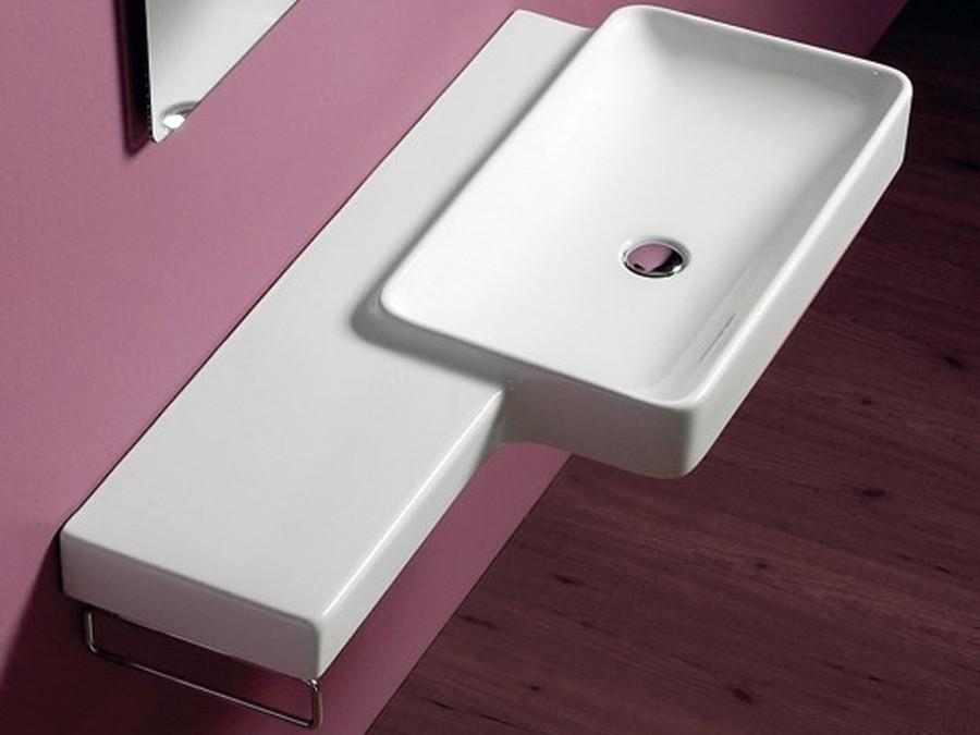waschbecken wandh ngend flair simas design modern 1 lochbohrung waschtisch square. Black Bedroom Furniture Sets. Home Design Ideas