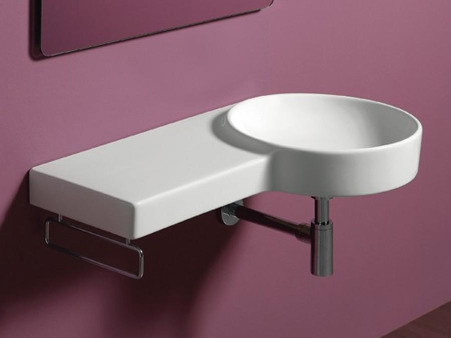 waschbecken wandh ngend flair simas design modern 1 lochbohrung waschtisch round rund. Black Bedroom Furniture Sets. Home Design Ideas
