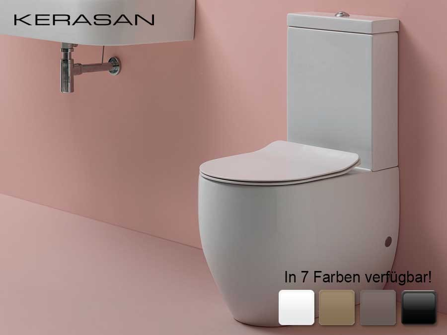Bekannt wc-becken, wandbündig, bodenstehend, flo, kerasan, design, modern YZ77