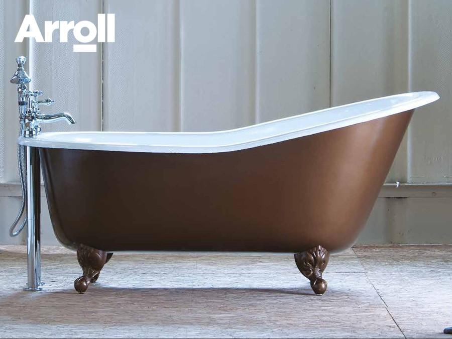 Freistehende Gusseisen Badewanne Bordeaux