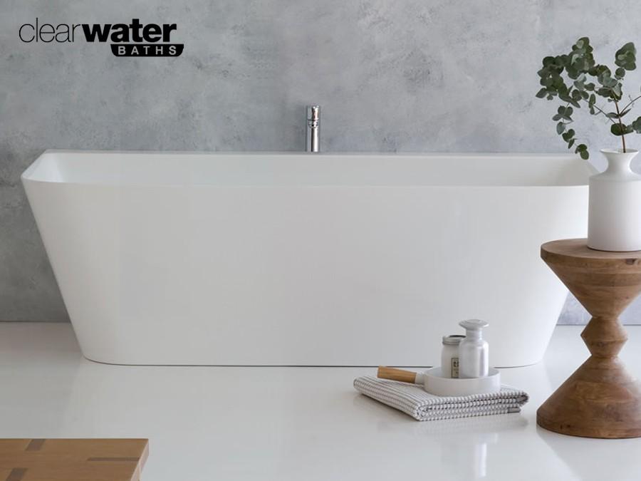 Badewanne Halb Freistehend freistehende badewanne aus clearstone classic & stone