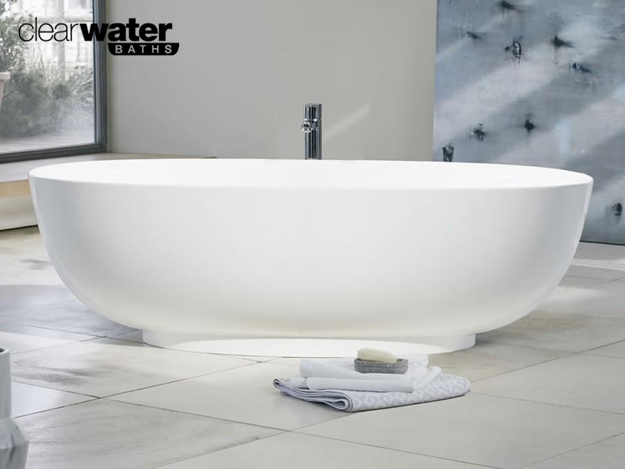 freistehende badewanne aus clearstone classic stone. Black Bedroom Furniture Sets. Home Design Ideas