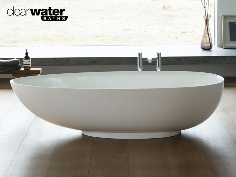 Freistehende Badewanne aus Clearstone Classic & Stone